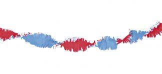 Draaiguirlande rood/wit/blauw