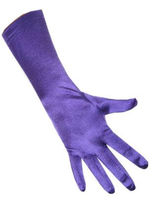 handschoenen satijn paars