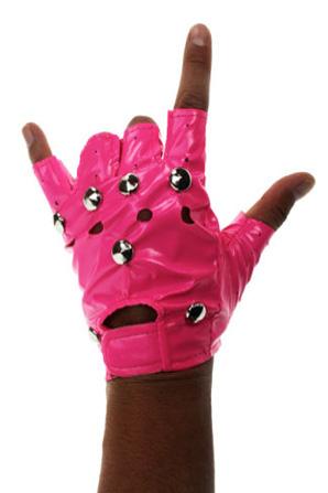 handschoenen punk roze