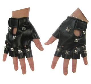 handschoenen punk zwart