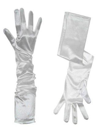 handschoenen satijn wit