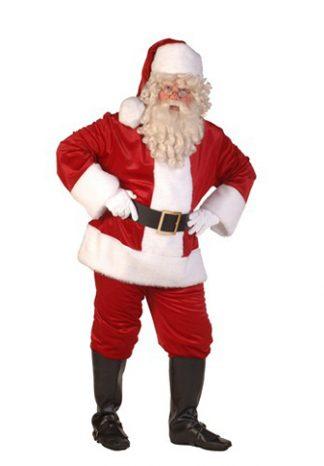 Kerstman: Kostuum, baard, laarzen, handschoenen, riem en bel €50,-