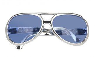 bril rock 'n roll blauw