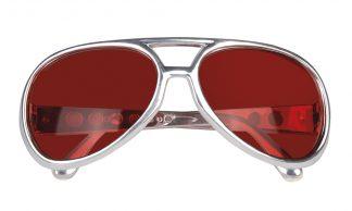bril rock 'n roll rood