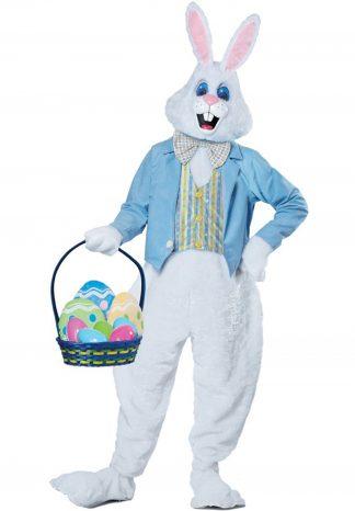 Paashaas Wit: Kostuum met jasje, kop, handschoenen en voeten €40,-