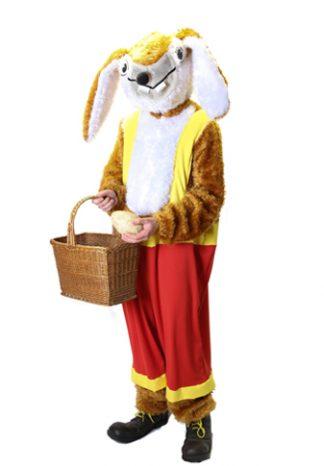 Paashaas Tuinbroek: Kostuum met tuinbroek, kop €30,-