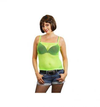 Damestopje-neon-groen