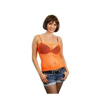 Damestopje-neon-oranje