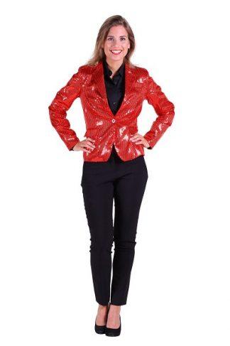 Colbert-dames-pailletten-rood