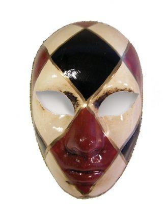 Handbeschilderd Venetiaans Masker Ruit