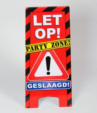 warning sign geslaagd
