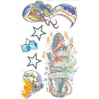 tattoo rock star all night up set