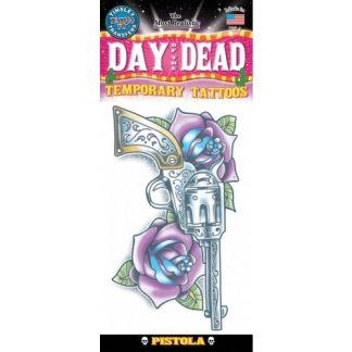 tattoo Day of the dead Pistola