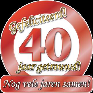 40 jarig robijn huwelijk