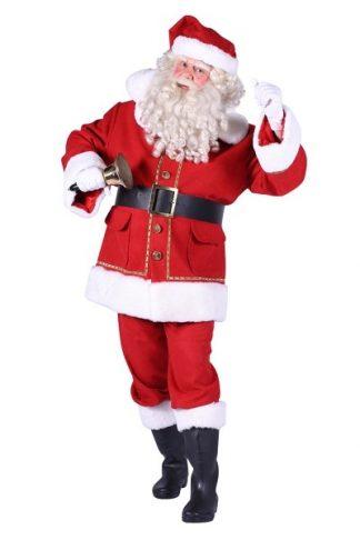 Kerstman Luxe: Kostuum, baard, laarskappen, handschoenen, riem en bel €60,-