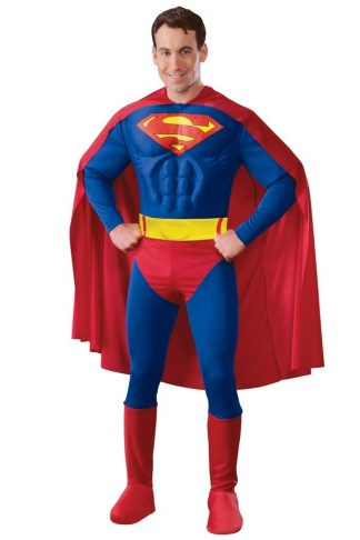 Superman muscle chest onesie