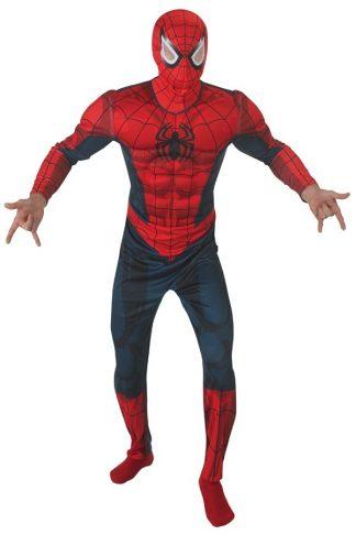 Spiderman muscle chest onesie