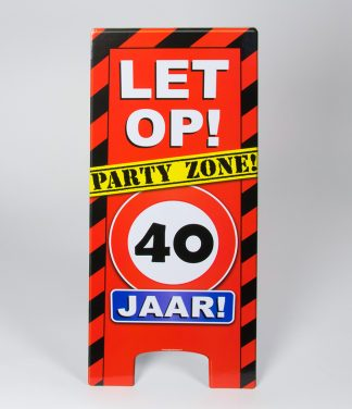 warning sign 40 jaar