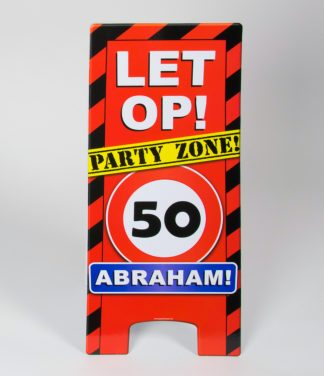 Warning sign 50 Abraham