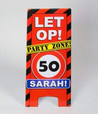 warning sign 50 sarah