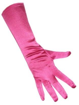 Handschoenen Satijn hard Roze