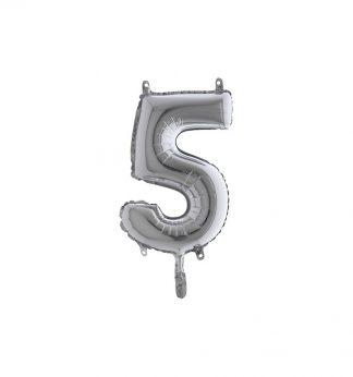 folieballon cijfer 5