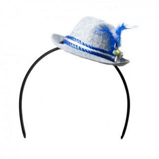 Diadeem Tiroler hoed grijs