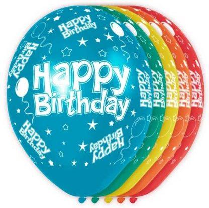 (Helium)Ballonnen Happy birthday