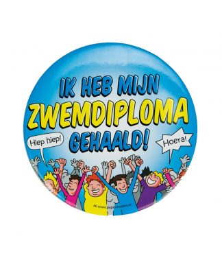Button XL zwemdiploma