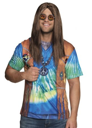 Hippie peace fotorealistisch shirt