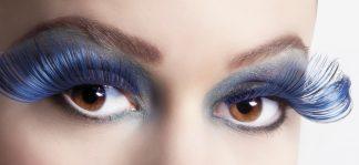 Wimpers Flamboyant Blauw Zwart
