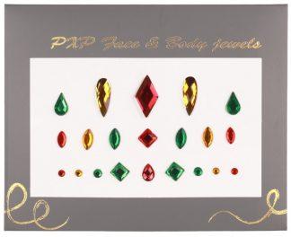 Body Jewels Rood, Geel & Groen