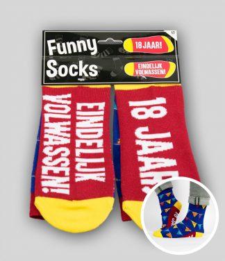 Funny socks 18 jaar Eindelijk Volwassen