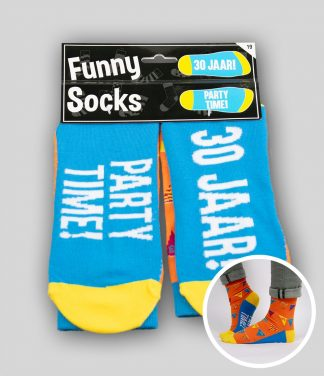 Funny socks 30 jaar Party Time