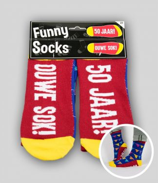 Funny socks 50 jaar Ouwe Sok