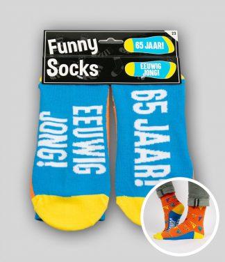 Funny socks 65 jaar Eeuwig jong