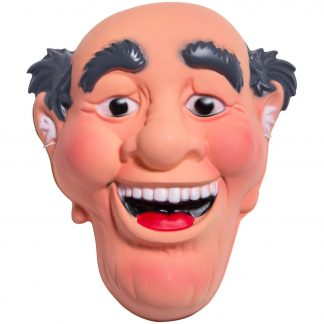 Masker Abraham lachend