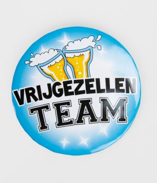 XL Button vrijgezellen team