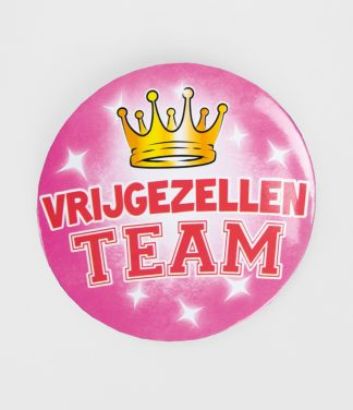 XL Button vrijgezellen team roze