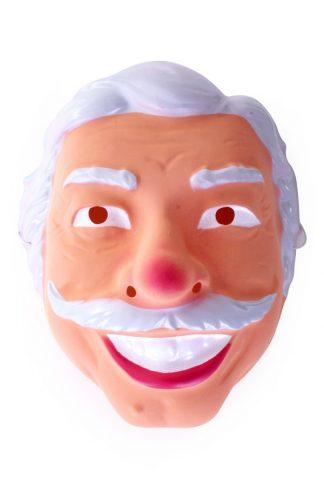 Masker Abraham grijs met snor