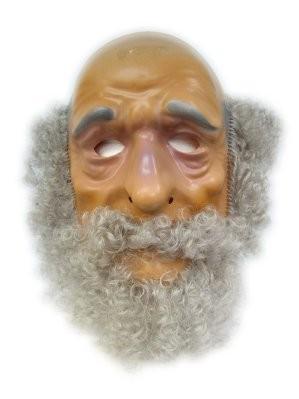 Masker Abraham met haar en baard