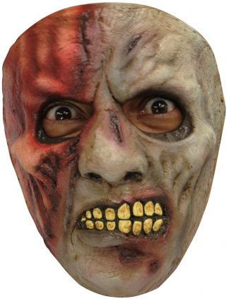 Latex masker zombie burned