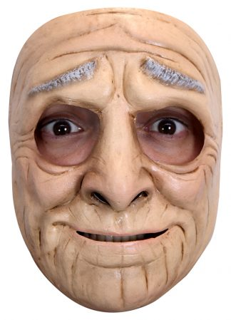 Latex masker funny old woman