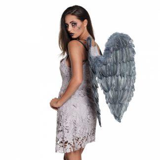 Vleugels veren wings grijs