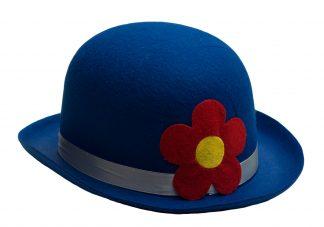 Bolhoed clown blauw