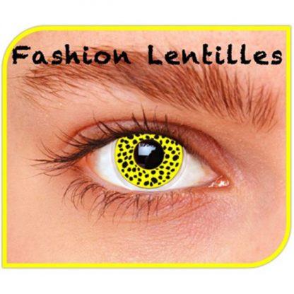 Lentilles maandlenzen yellow cheetah