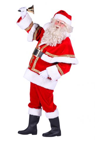 Kerstman polyester fluweel