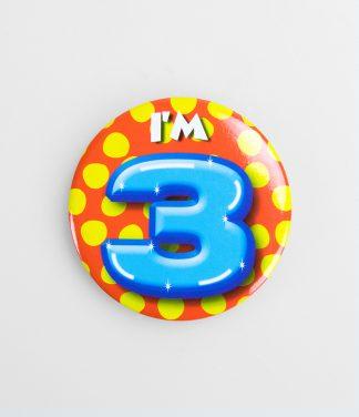 Button 3 jaar