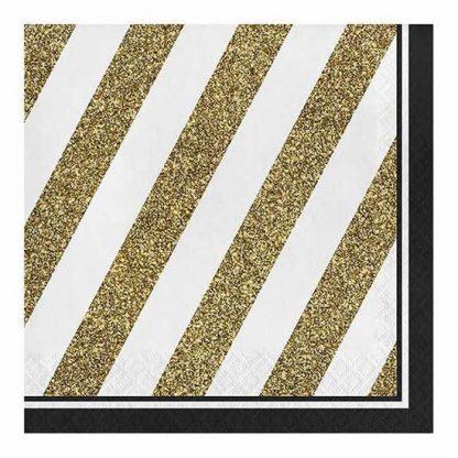 Servetten black and gold neutraal