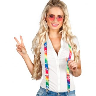 Bretels hippie neon peace